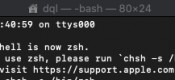 Mac 终端提示:The default interactive shell is now zsh【未显示任何来源】